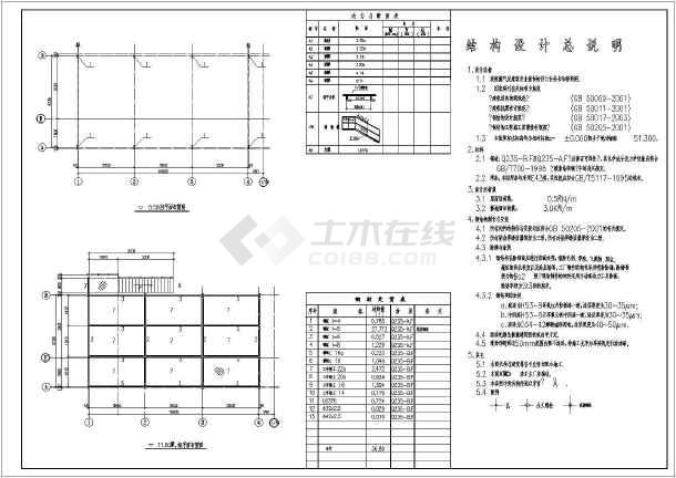 某地标准二层钢结构房屋结构设计施工图
