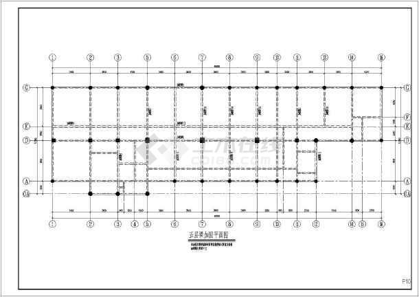 内容包含:结构加固设计说明,各标高层加固平面布置图,结构构造大样图