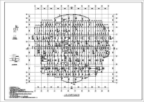 图纸 建筑结构图  厂房结构设计  框架结构厂房  某地两层框架结构