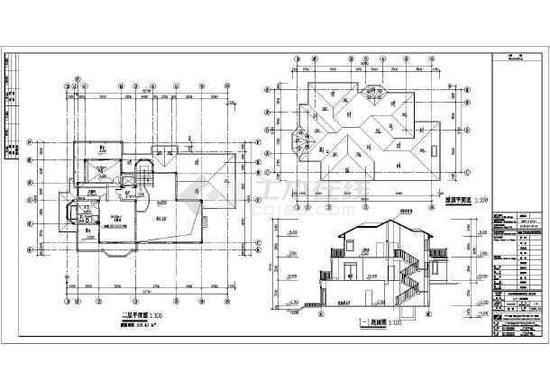 某地二层框架结构别墅建筑方案设计图