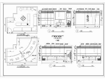 某地区ktv包房室内装修建筑设计图