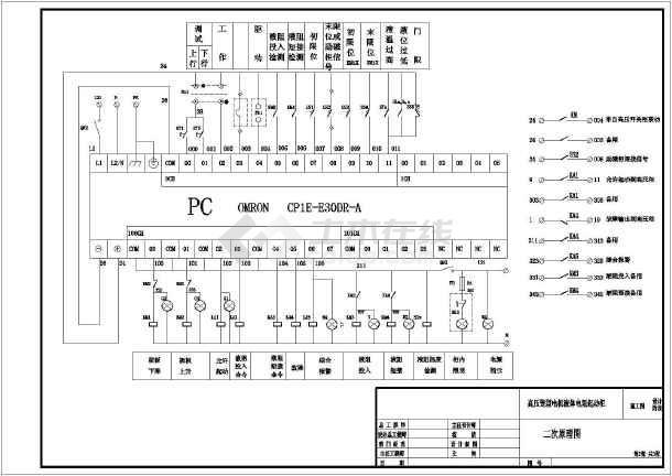 本图为10kv高压笼型液态电阻起动装置plc控制原理图,包含一次接线图