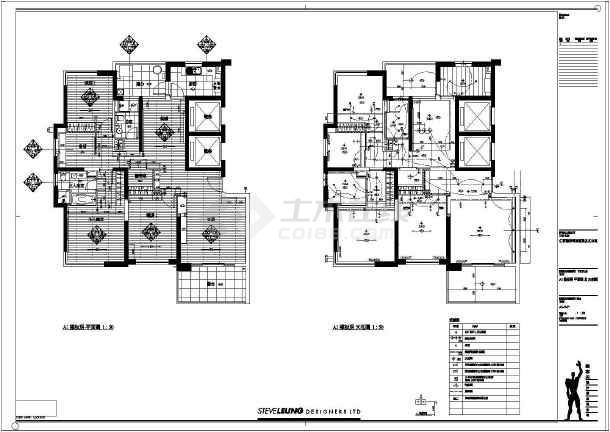 某地酒店式公寓室内装修及电气设计施工图 图1高清图片