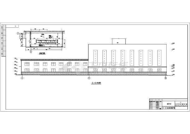 山西潞安煤矿单层门式钢架结构井口房建筑和结构施工图纸(cad图纸下载