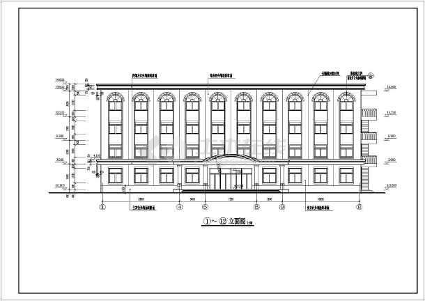 某煤矿四层欧式办公楼建筑设计施工图