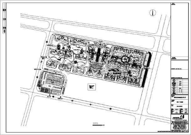 泗阳文城新都小区景观规划设计施工图