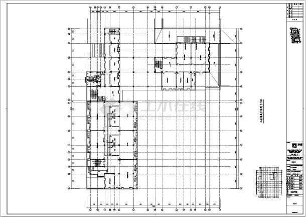 某地楼层教学楼防排烟图纸大学平面图四脚系统接收头贴片图片
