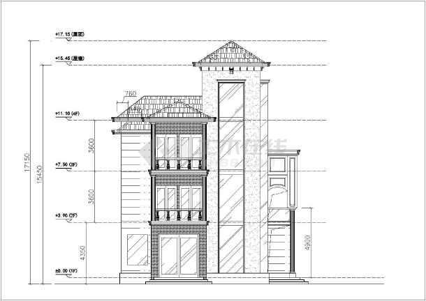 某地区四层海边别墅建筑设计方案图