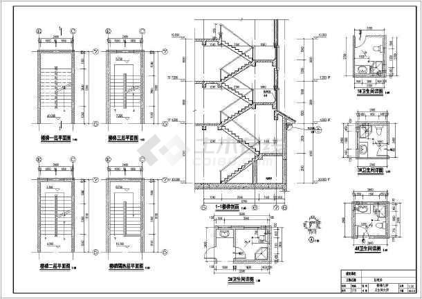 某地区3层框架结构农村自建房小别墅建筑施工图