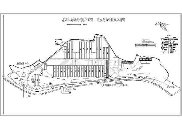 云南省某万头养猪场规划设计方案图