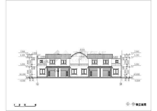 通用农村低层住宅建筑平面图,立面图和剖面图(多套)