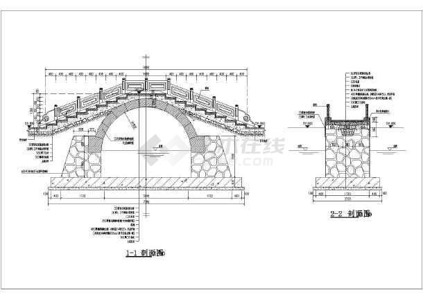 中国古典园林中的拱桥设计施工图纸