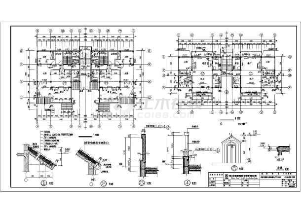 图纸 建筑图纸  别墅图纸  别墅设计图  半山蓝湾六层联排别墅建筑