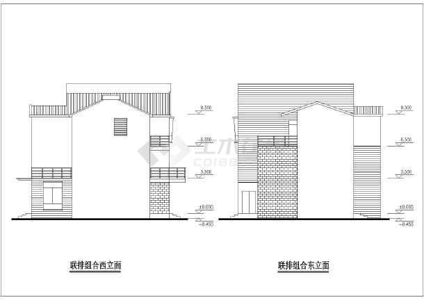 某农村三层联排别墅施工方案设计图(带效果图)图片3