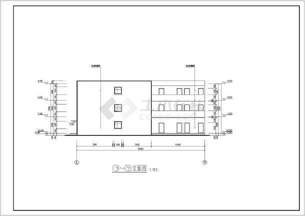 某新农村3层砖混结构养老院建筑设计方案图