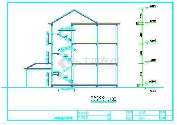 农村自建多层小别墅建筑设计施工图