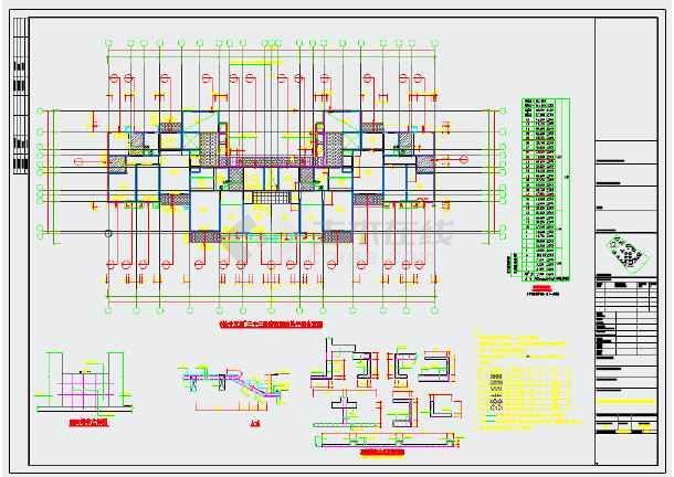 两栋33层剪力墙结构住宅楼结构施工图-图1