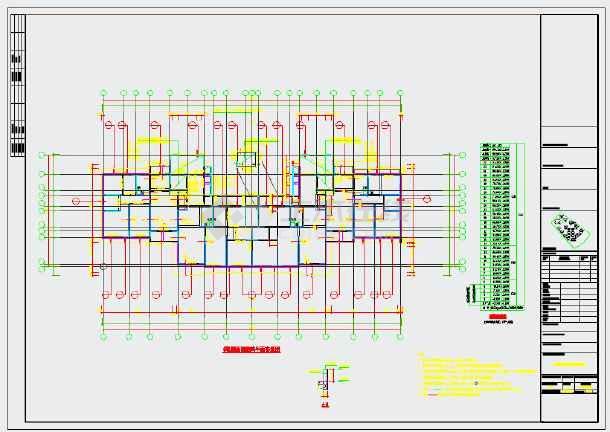 两栋33层剪力墙结构住宅楼结构施工图-图2