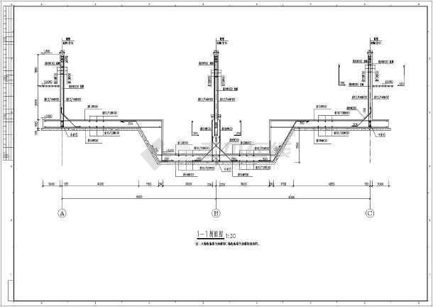 某地消防泵房,消防水池框架结构设计施工图图片