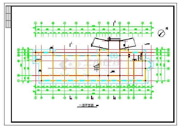 两层办公楼平面图