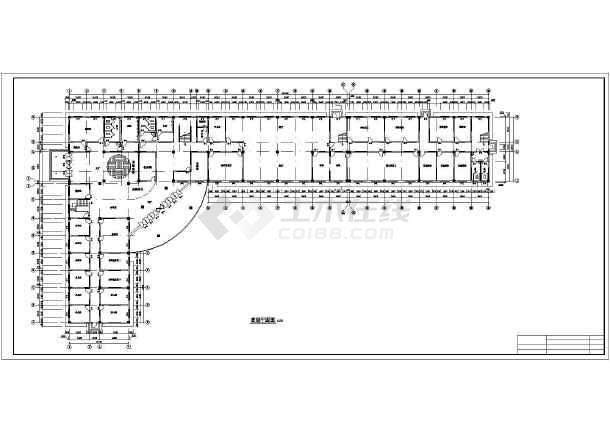 某地三层L型小旅馆详细建筑设计图纸_cad图纸喷气发动机微型图纸图片