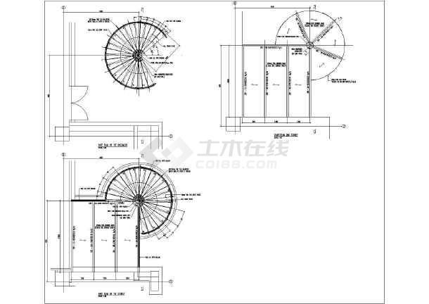 圆形小龙钢结构详细cad设计施工图纸图纸翠玉楼梯图片
