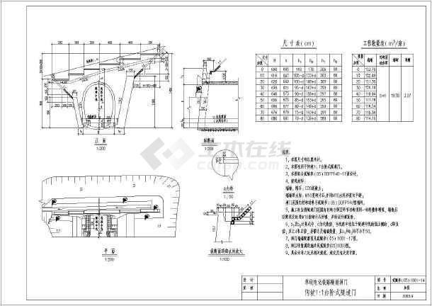 铁路台阶式洞门设计图(单线电化图纸单线洞门cad如何取消中圆心隧道