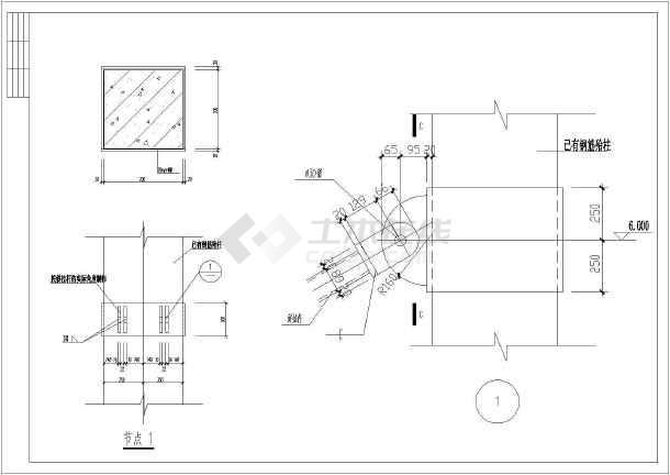 4米轻钢雨蓬结构施工图