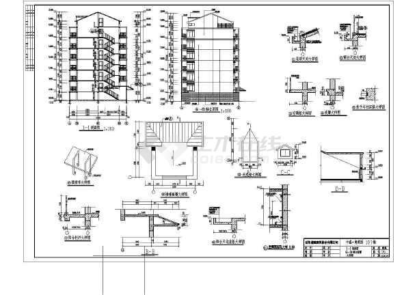某地7层砖混结构住宅楼建筑设计方案图