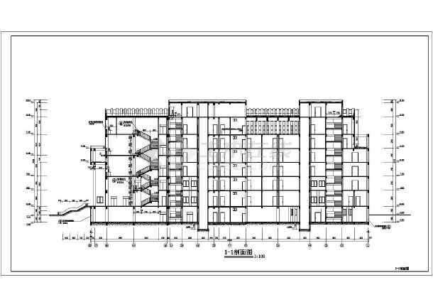 临夏市某6层框架法院办公楼建筑设计施工图