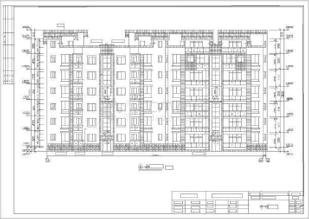 德阳市某6层砖混住宅楼建筑设计施工图常用算法程序设计图片