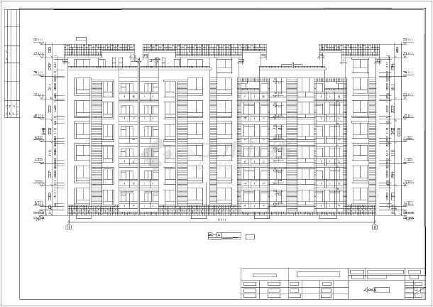 德阳市某6层砖混住宅楼建筑设计施工图加特厄设计图片
