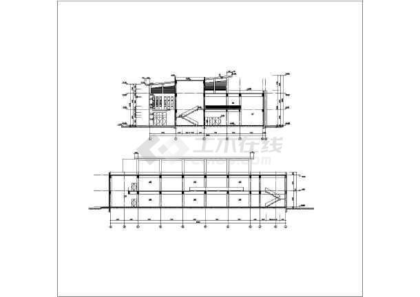 某地中学体育馆楼结构设计施工图(钢结构屋面)