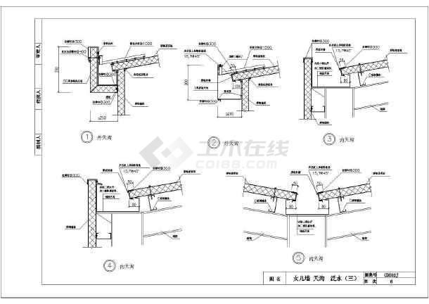 轻型钢结构厂房彩钢板收边作法详图(cdi02j)