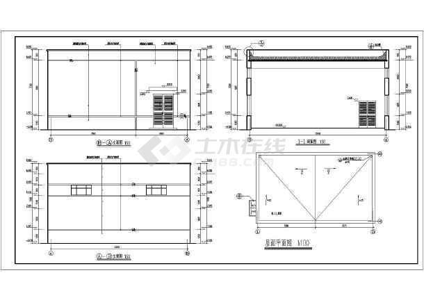 某地煤矿单层绞车房建筑设计施工图