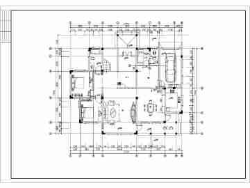 某地两层框架结构别墅室内装修设计方案图