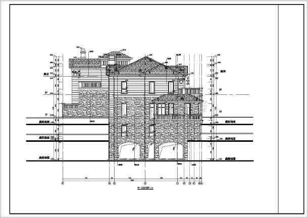 某2层混凝土框架结构别墅楼建筑施工图
