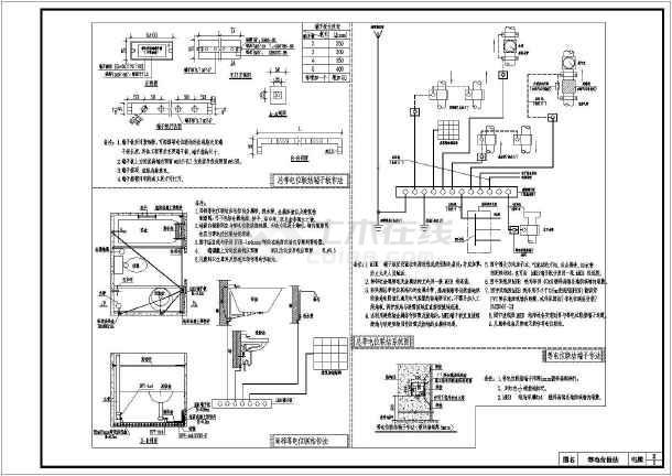 农村三层一梯三户电气设计全套施工图