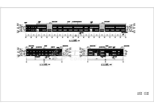 某地局部两层钢结构厂房建筑结构设计施工图纸