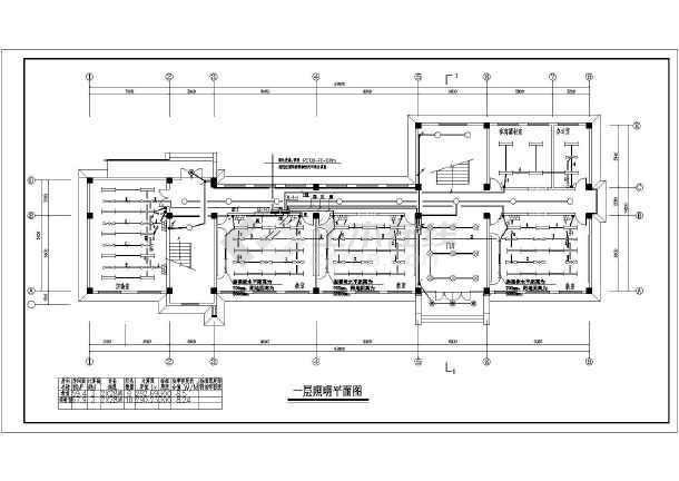 某图纸小学三层教学楼电气v图纸课程_cad特色图纸中小学乡镇