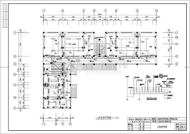 某地区小学附属幼儿园电气施工平面图_cad图纸下载