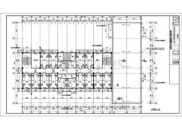 某学校三层框架结构宿舍楼建筑设计方案图片