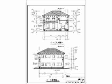 广东沿海某农村二层别墅建筑设计施工图