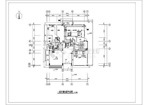 某三层别墅多联机空调系统设计施工图