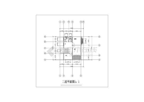 某两层半家庭小型别墅建筑设计图纸