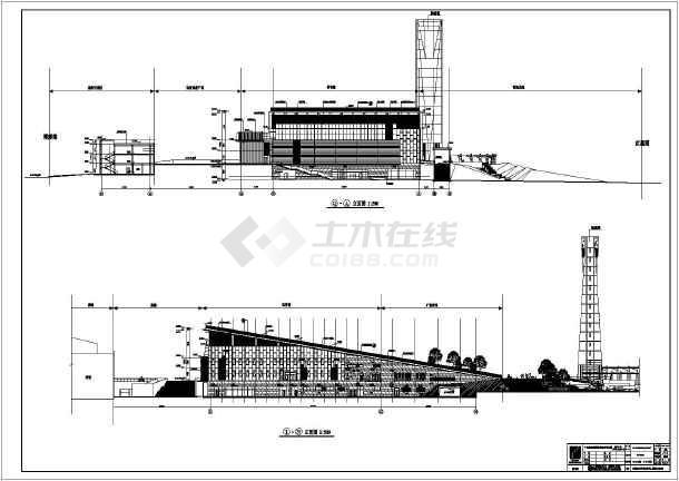 【广东】某三层乙级体育馆建筑及结构设计施工图(含水暖电)