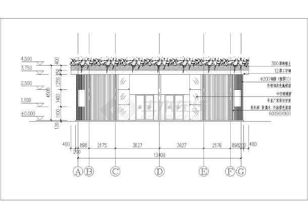 某生活用公共房屋钢框架结构设计施工图