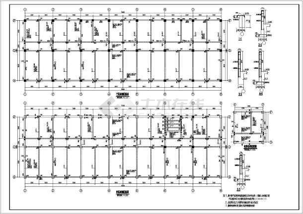 架电气生产综合办公楼图纸施工图_cad图纸下审结构结构图图片
