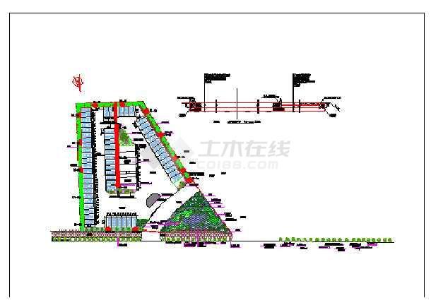 某工业园区大型停车场设计平面图cad