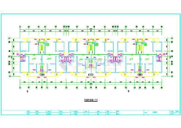 住宅楼详细给排水cad平面设计施工图